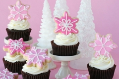 CUP-Pink Christmas Cupcakes