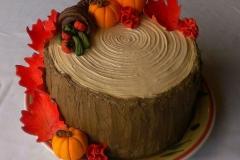 NOV-TG-Fall tree trunk cake