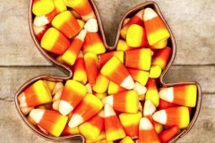 candy-corn in leafe-mold