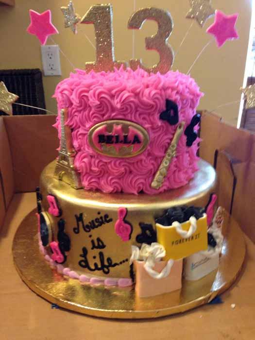 girl's 13th birthday cake