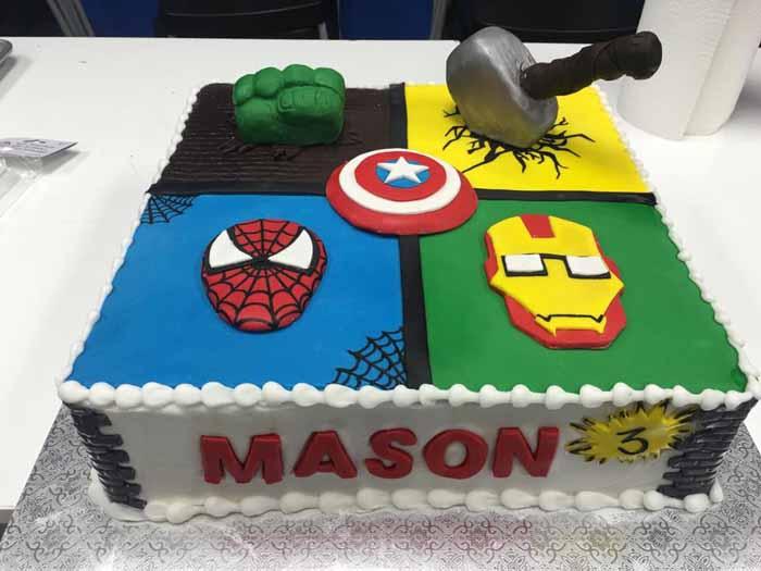 Super Heroes cake
