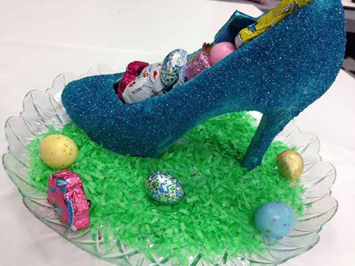 Chocolate high heel shoe