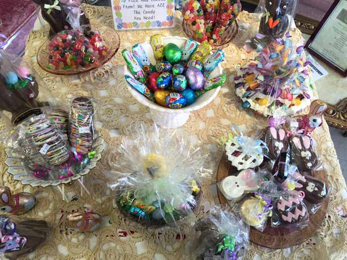 Easter Candies in bowls
