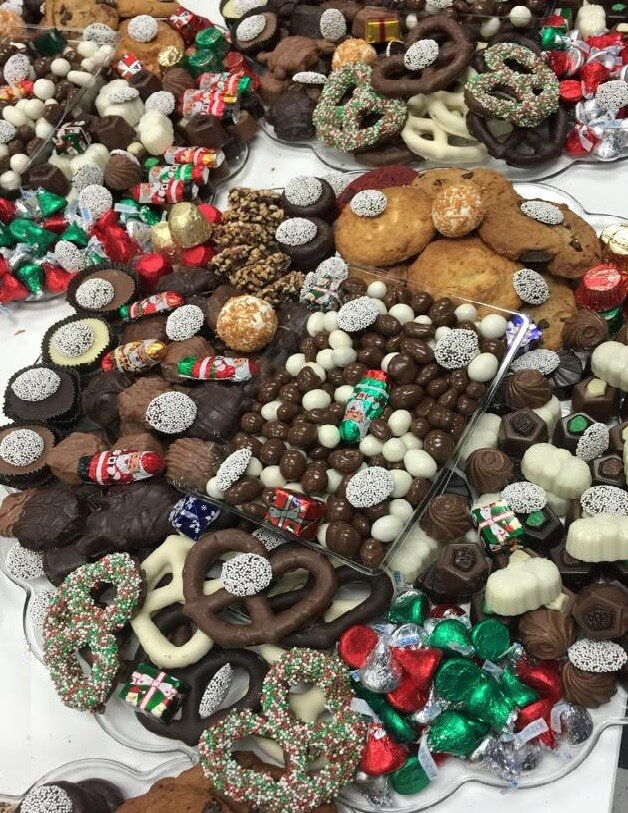 Christmas Chocolate Platters
