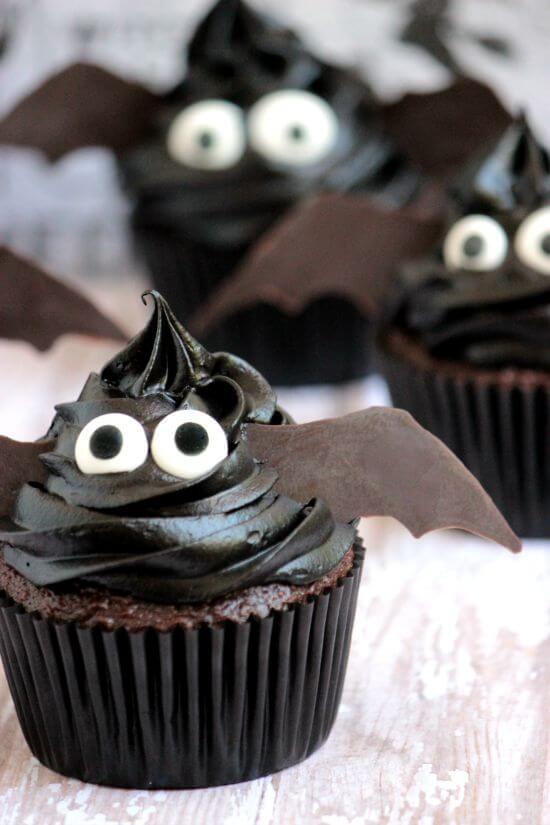 Chocolate Bat Cupcake