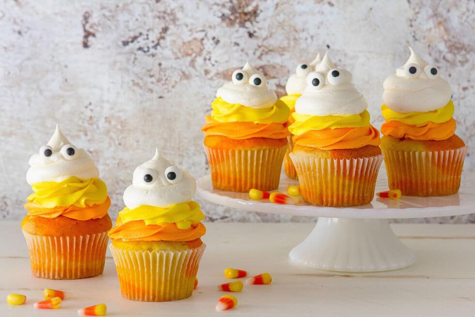 Candy Cane Ghost Cupcakes