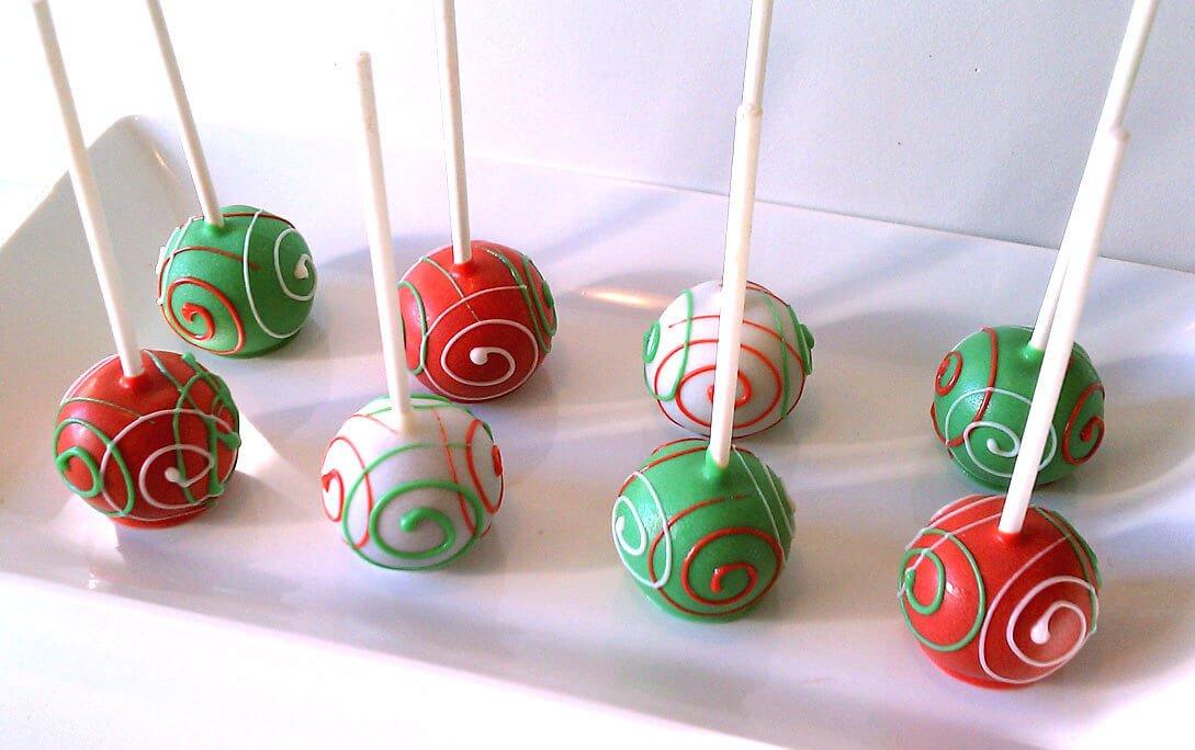 Christmas Colors Cake Pops