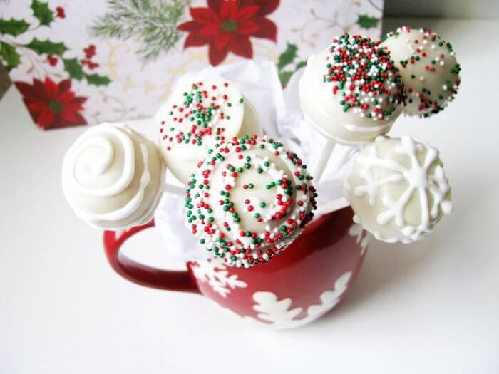 White Winter/Christmas Cake Pops