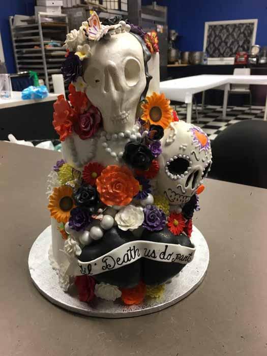 Sugar Skulls Cake