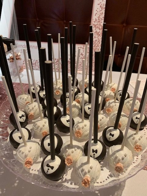Bride and Groom Cake Pops