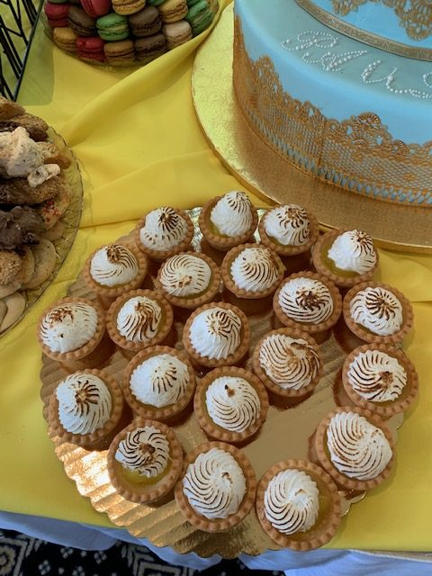 Cupcakes on gold plate