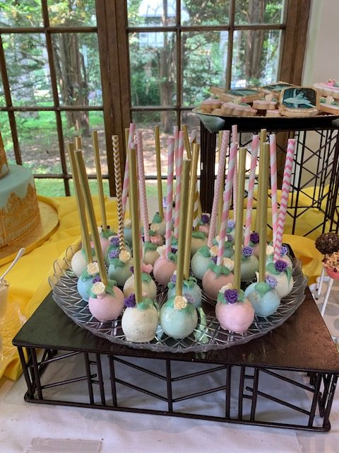 Pastel colored cake pops