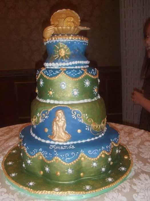 Sweet 16 mermaid cake