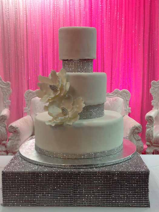 3-tiered bling cake