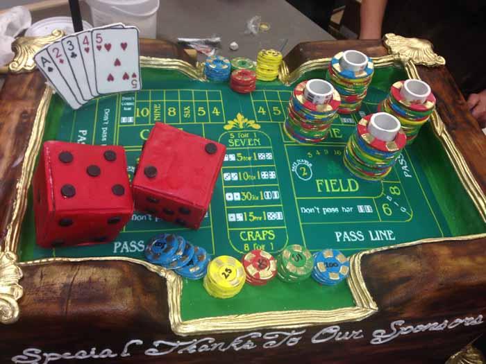 Gambling Table cake