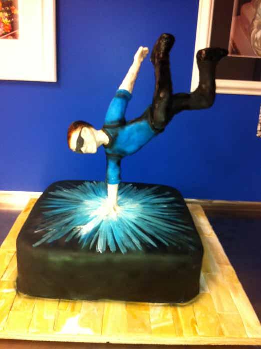 break dancer cake