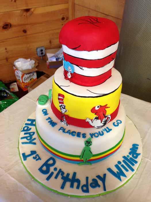 Child's first birthday cake
