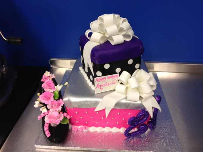 Pink and purple cake