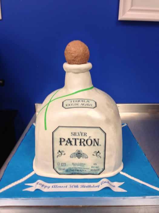 Alcohol Bottle Cake