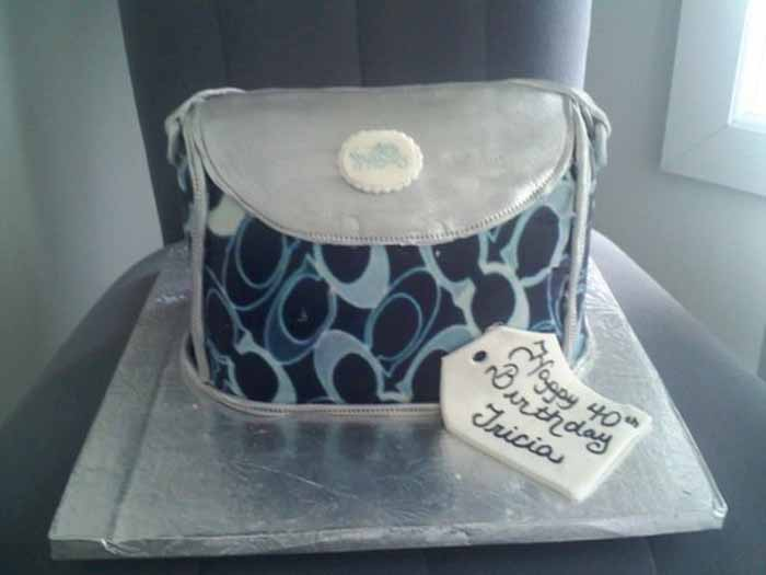Blue Designer Bag Cake