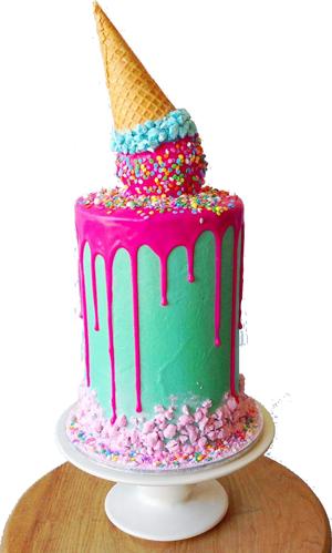 Ice Cream Custom Cake