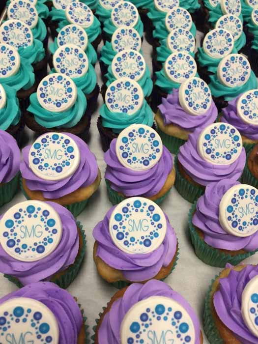 Business Logo Cupcakes