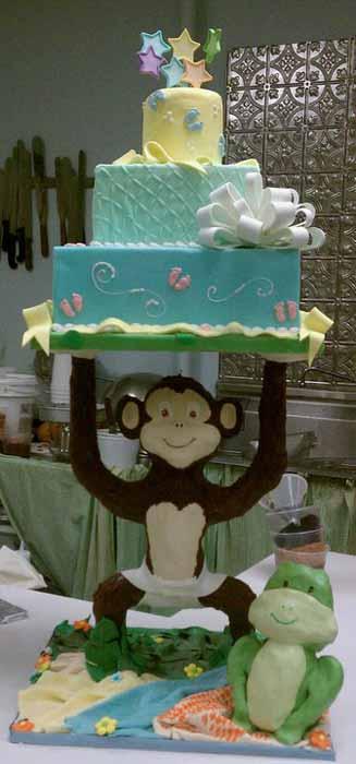 Monkey and Frog Cake