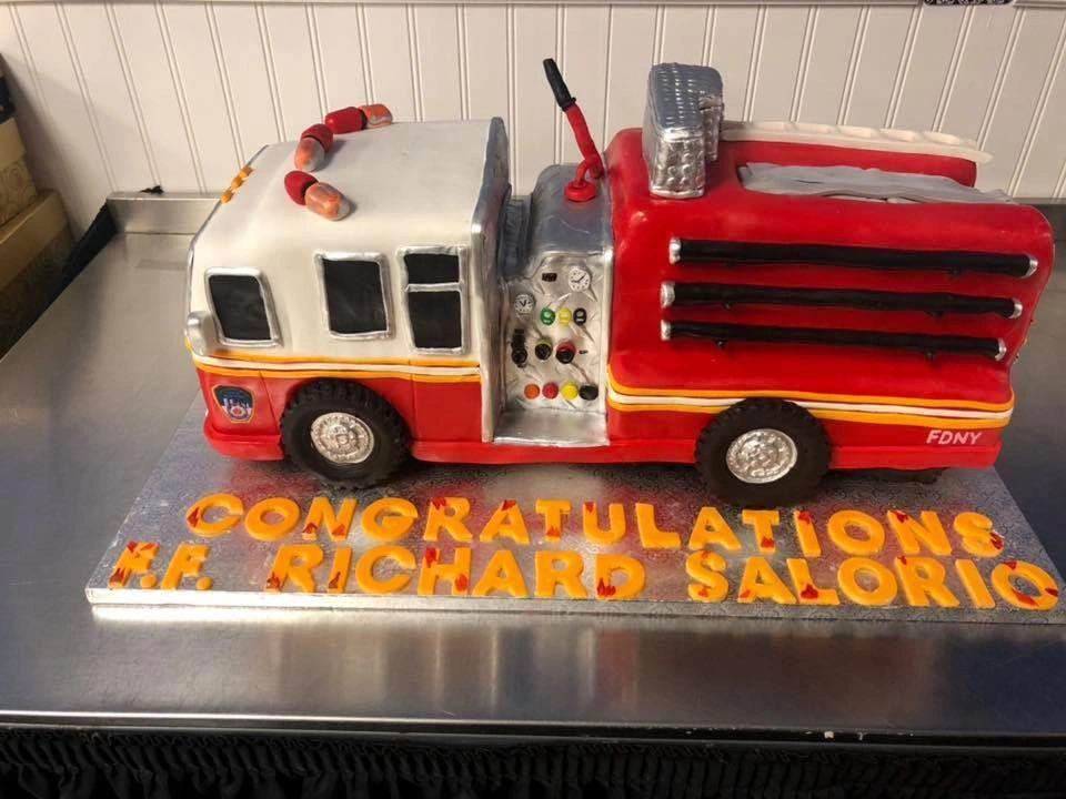Fire Truck Custom Cake