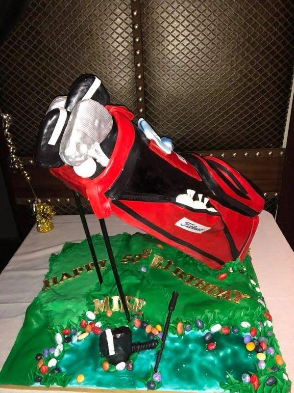 Golfing Custom Cake