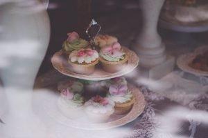 Cupcakes on cupcake tray