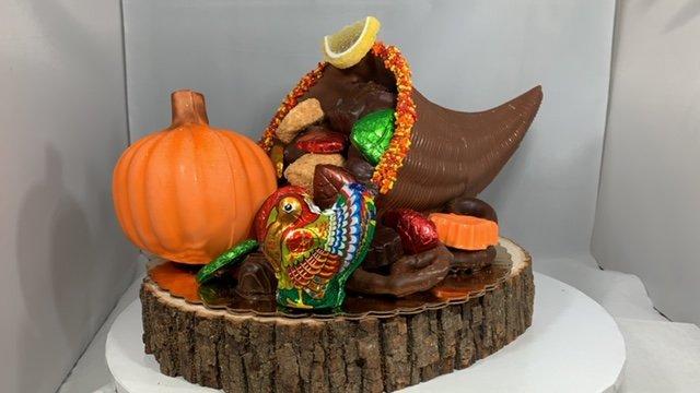 Medium Chocolate Cornucopia