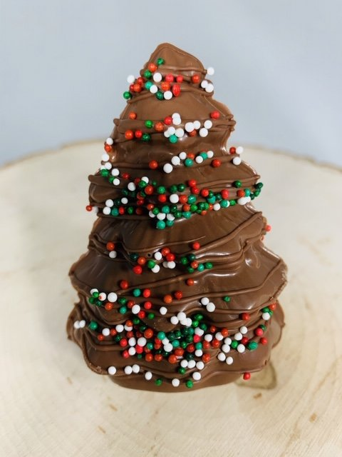 Christmas Tree Hot Cocoa Bomb