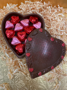 Chocolate Heart with foiled chocolate